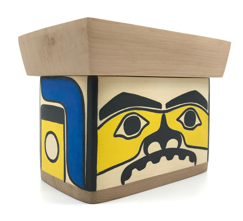 Bentwood Box- C. Guthrie: Mini Bentwood, Chilkat Box, Painted
