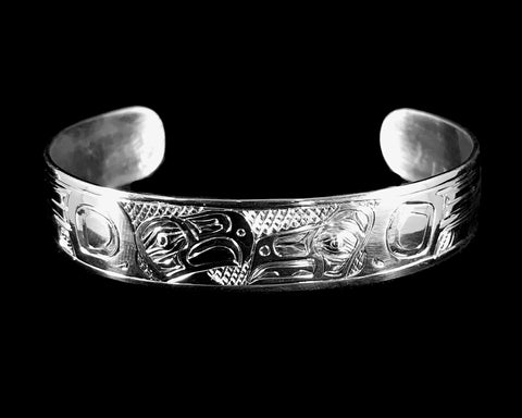 Bracelet- D. Chilton; Silver, Lovebirds, 1/2""