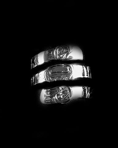 Wrap Ring- D. Chilton, Silver,  Double Wrap, Various