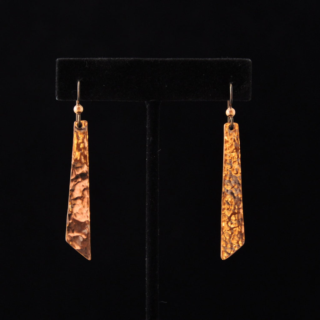 Small Angle Copper Earrings - Naakée Designs