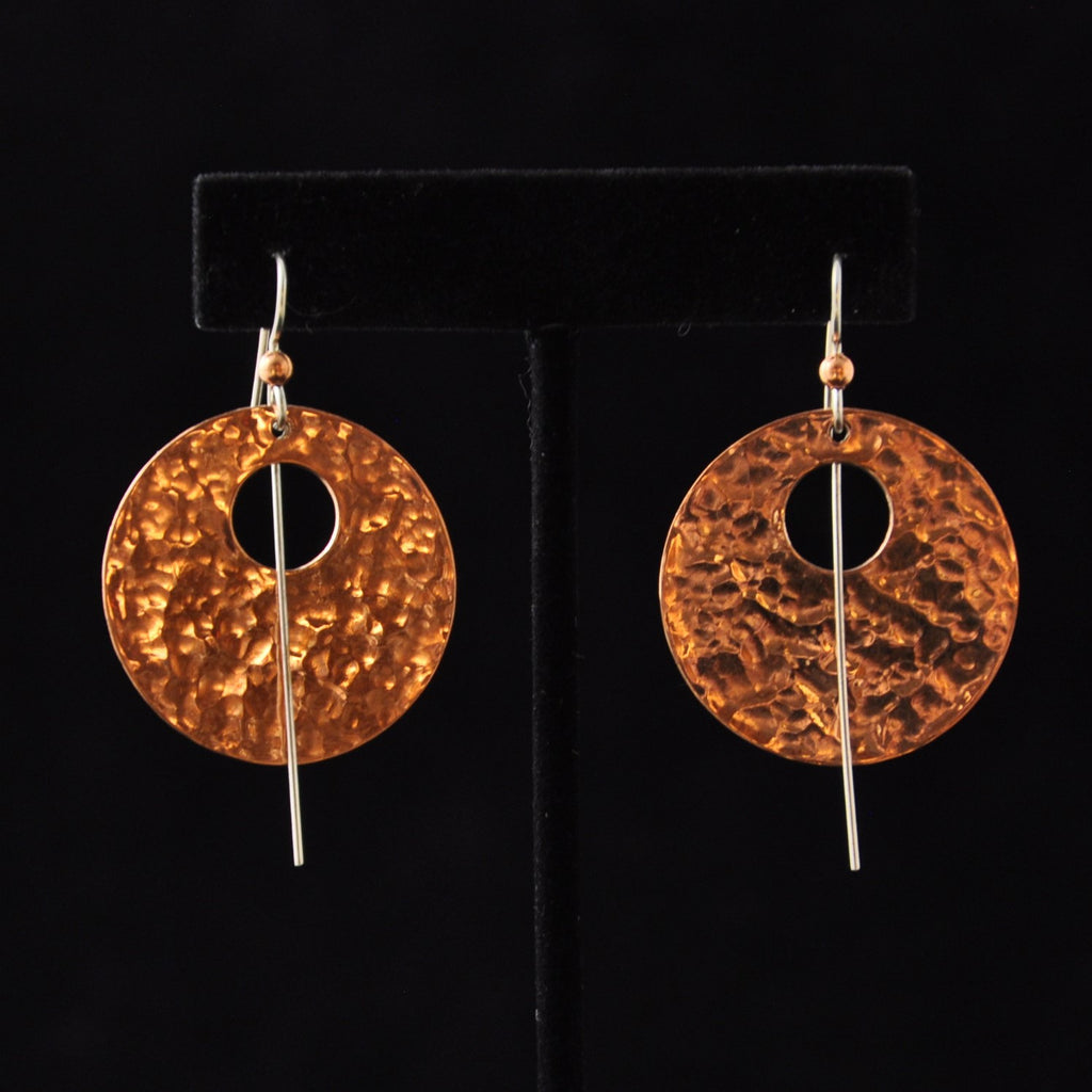 Copper Drum Earrings By Mary Folletti and Roz Cruise