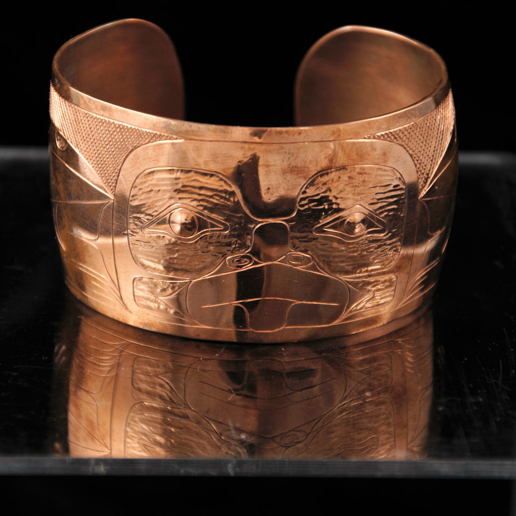 Bracelet - Copper Frog by Brian Chilton - 1 1/2