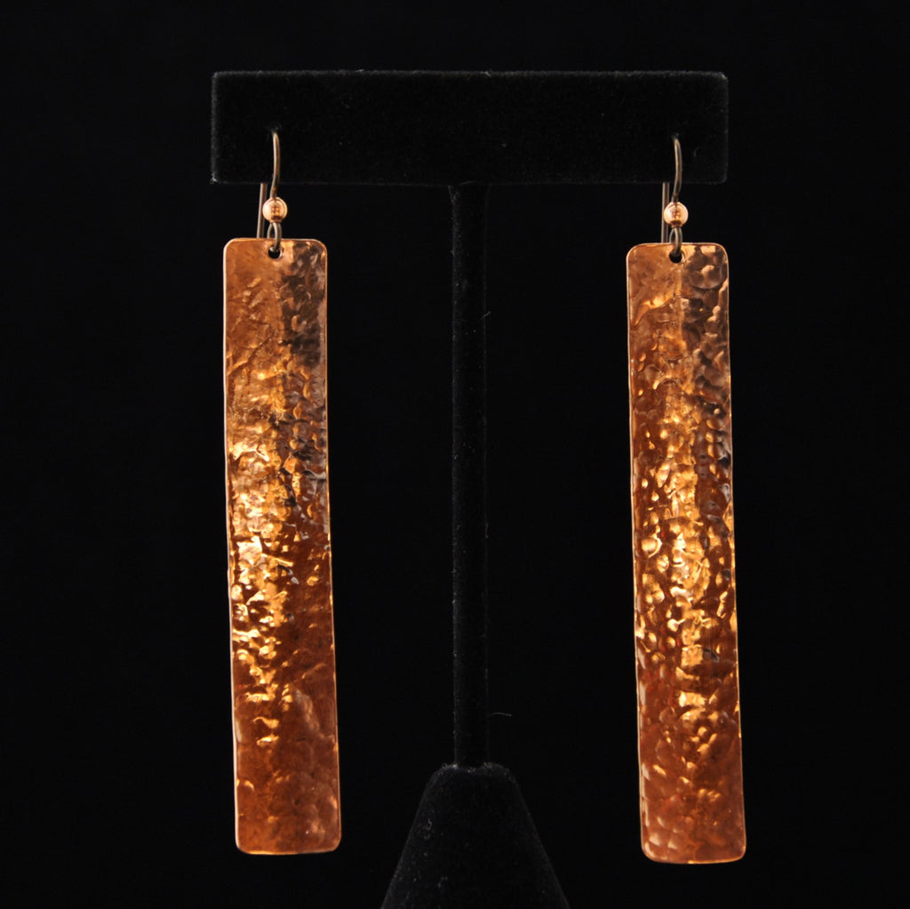 "Earrings - Copper Longs 1/2"" - Naakée Designs"