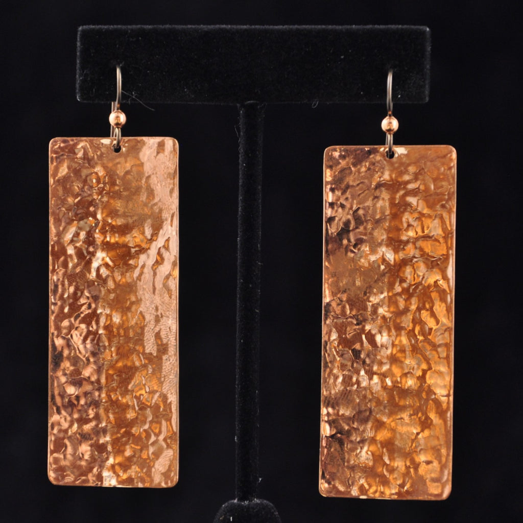Earrings - Copper Long Flat - Naakée Designs