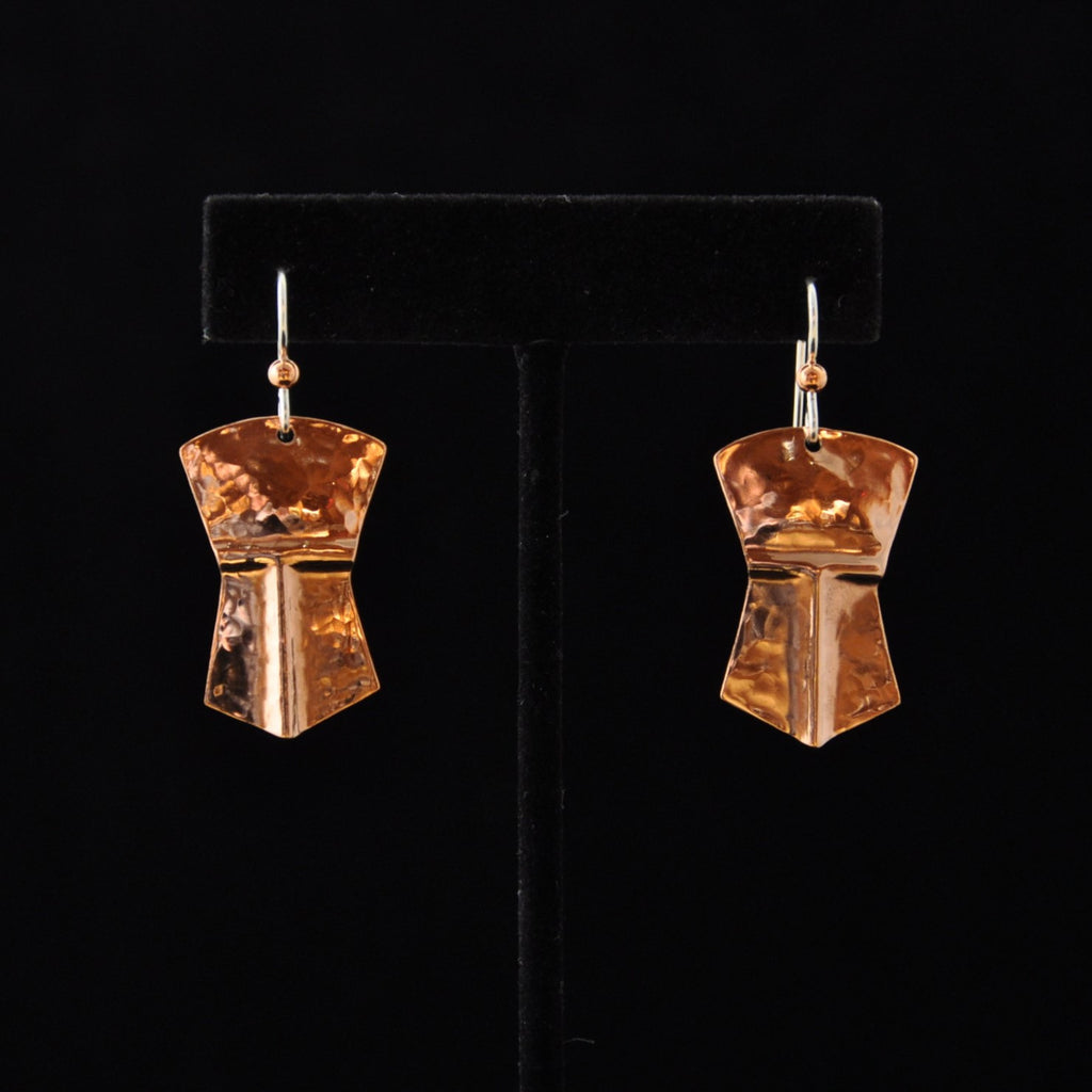 Earrings-Copper Tinaa Small By Mary Folletti and Roz Cruise