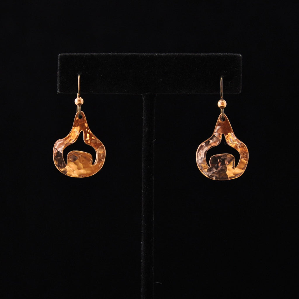 Copper Rain Drops Earrings By Mary Folletti & Roz Cruise