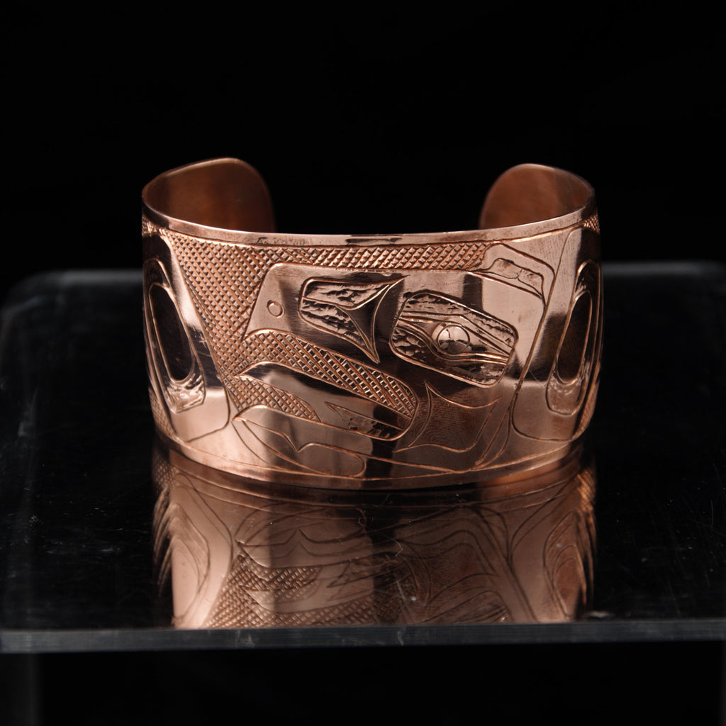 Bracelet - Copper Raven by Brian Chilton - 1 1/2""