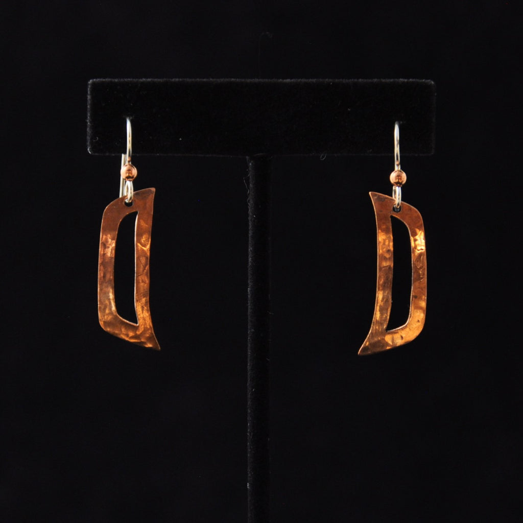 Copper Raven Ear Earrings By Mary Folletti & Roz Cruise