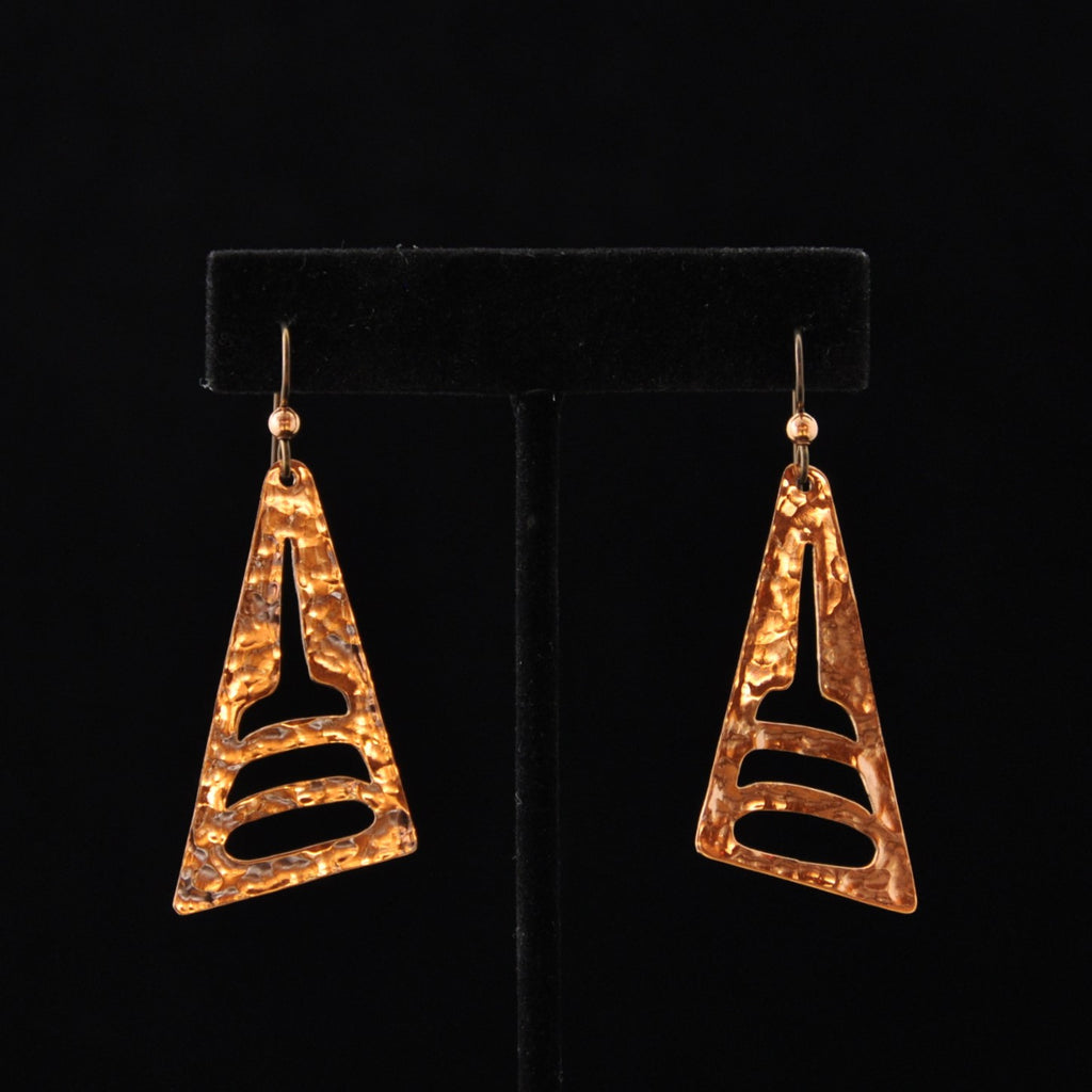 Earrings - Copper Shark Fin - Naakée Designs