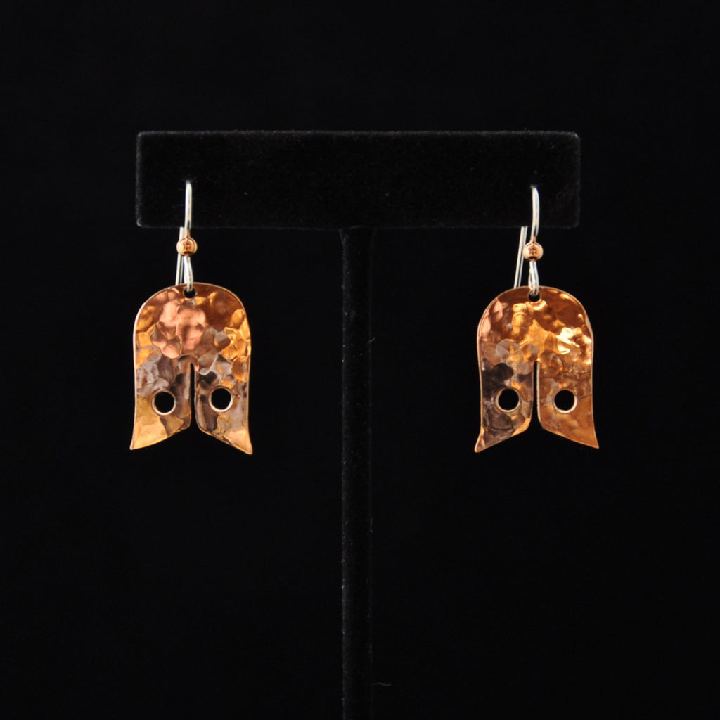 Earrings - Copper Tailfeather - Naakée Designs