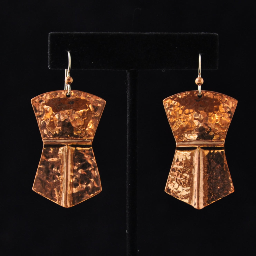 Earrings - Copper Large Tinaa