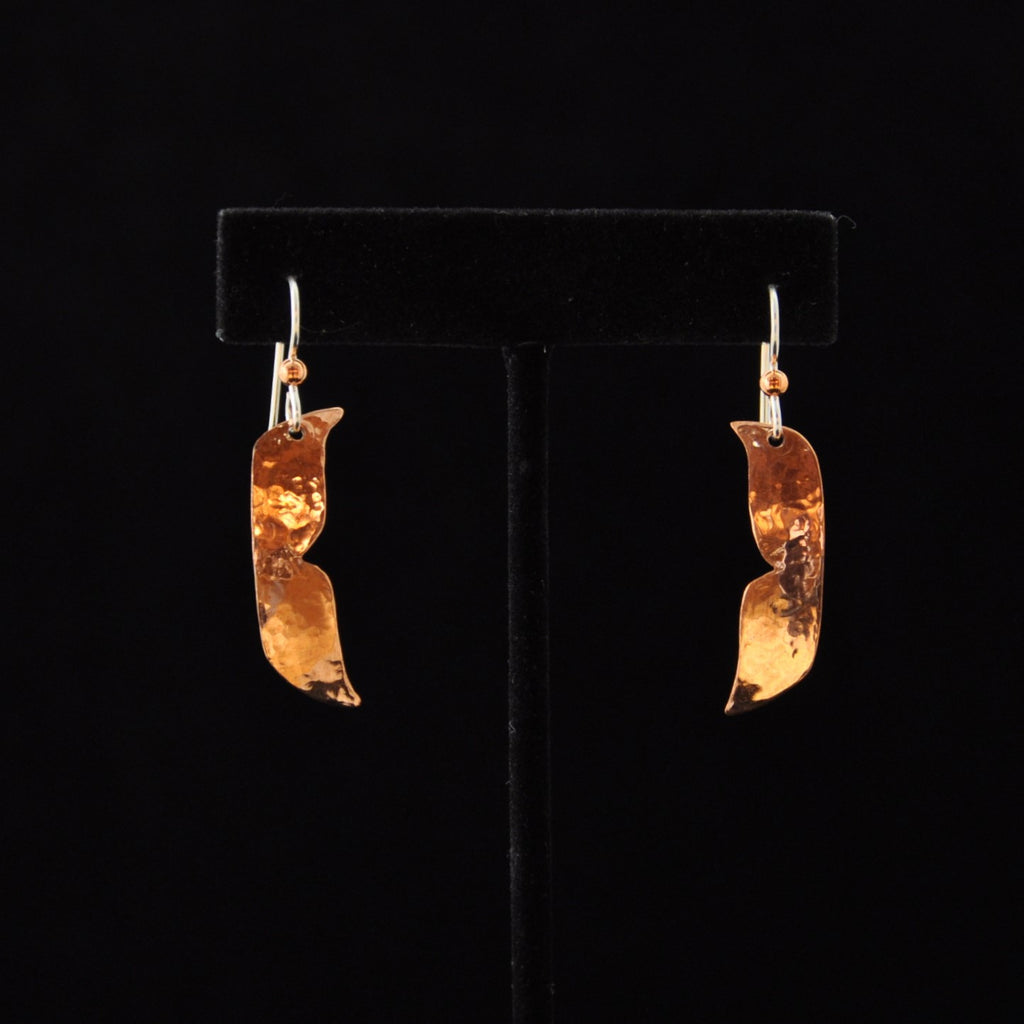 Whale Tail Copper Earrings - Naakée Designs