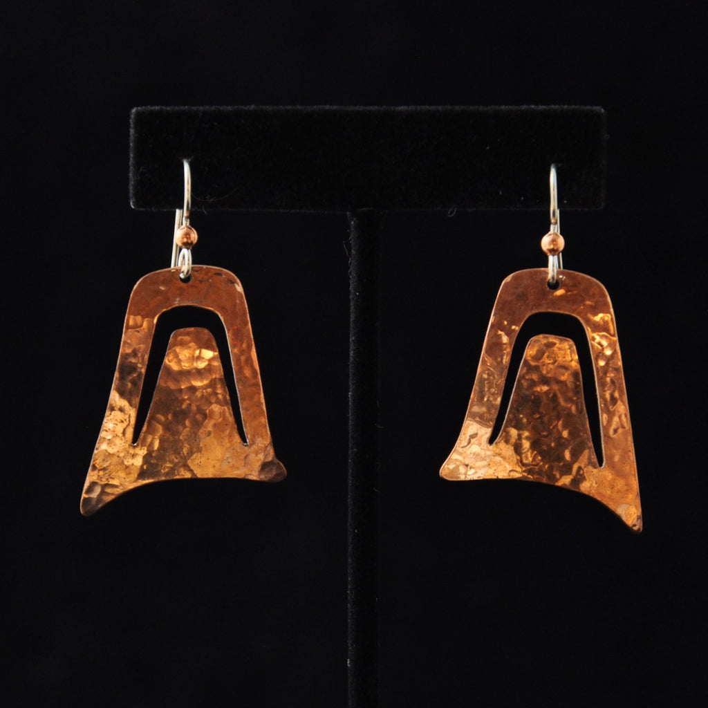 Copper Wolf Ear Earrings
