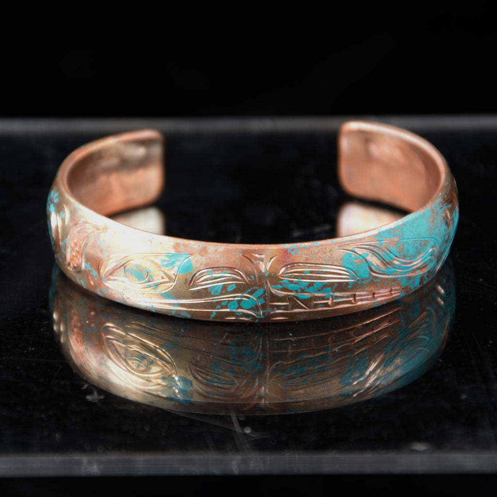 Bracelet - Copper Eagle Wolf by Nicholas Galanin - 1/2""