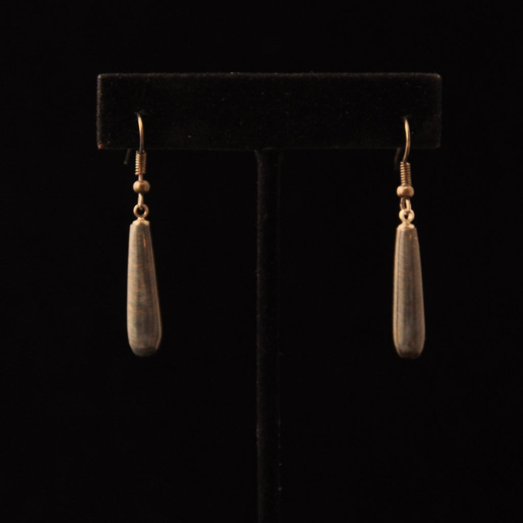 Small Blue Ivory Earrings