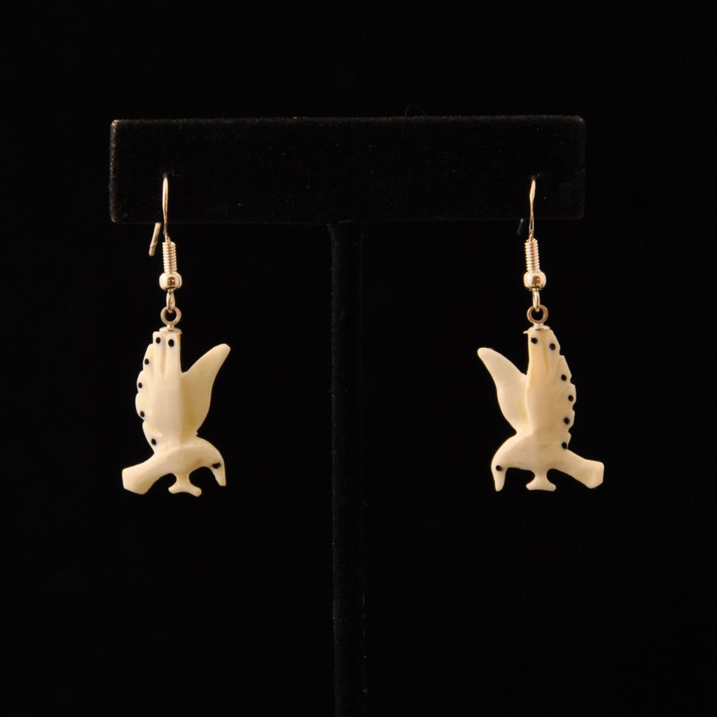 Earrings - Carved Ivory Animals by Robert Ralphiel