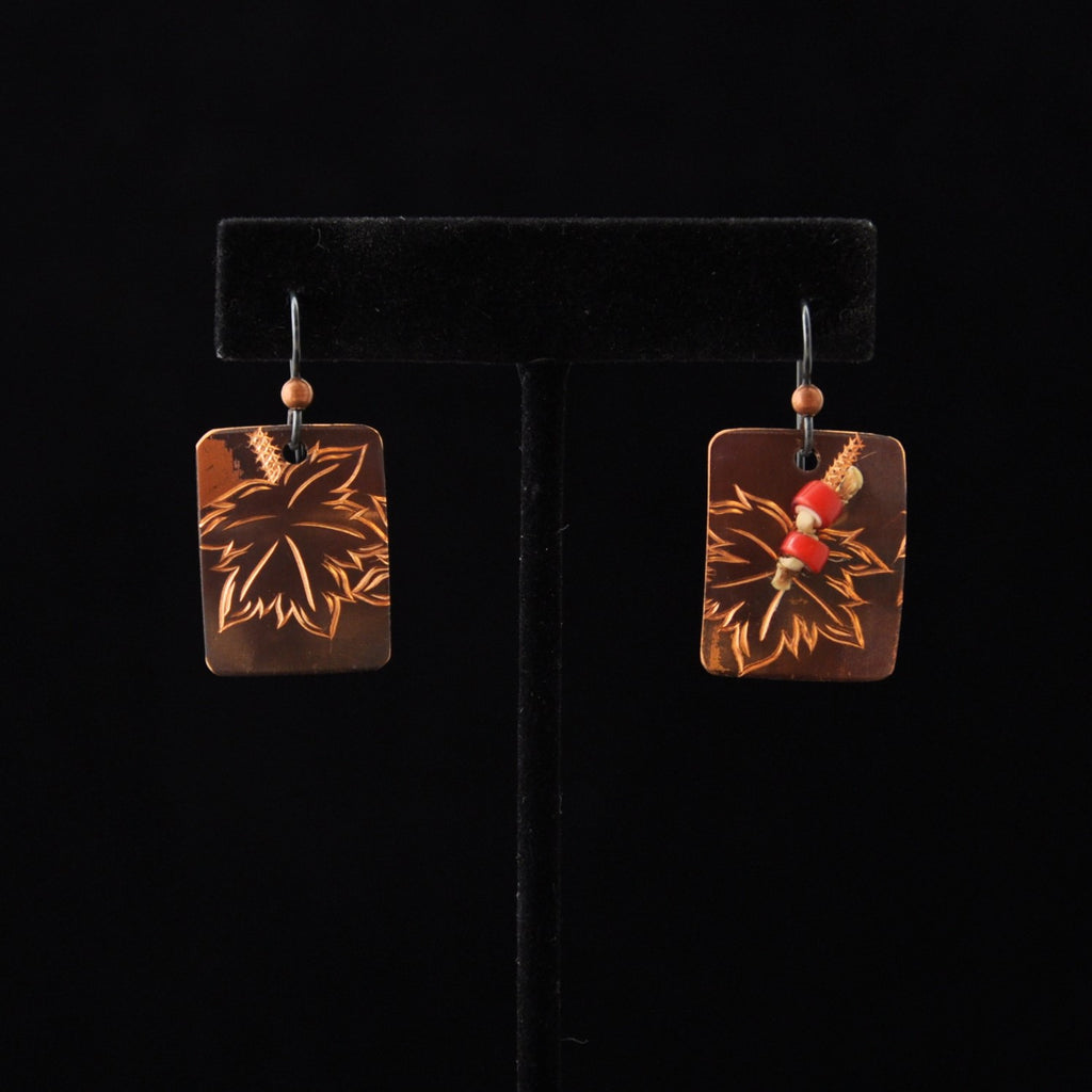 Copper Devils Club Earrings By Jennifer Younger