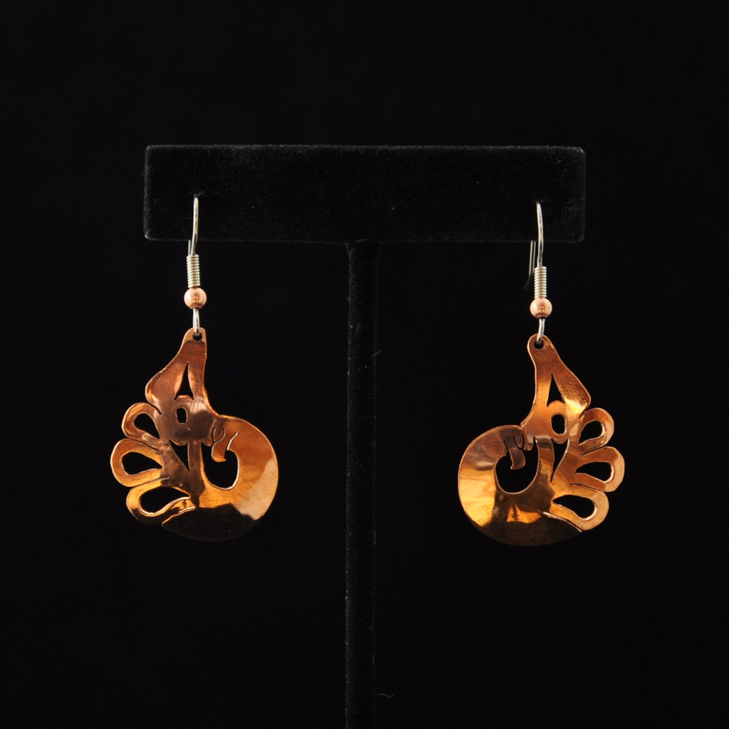 Copper Eagle Earrings by Leo Marks