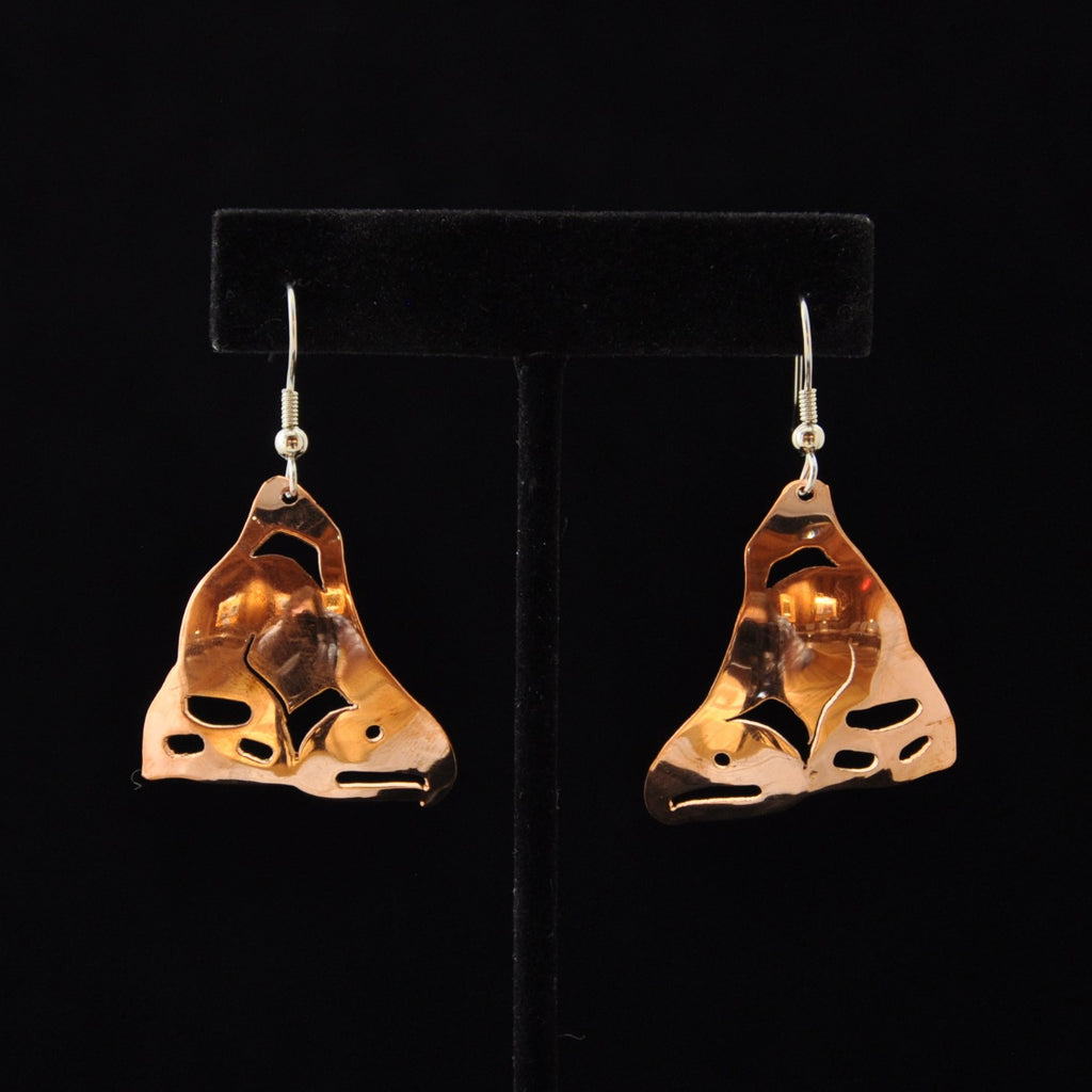 Copper Salmon Earrings by Leo Marks