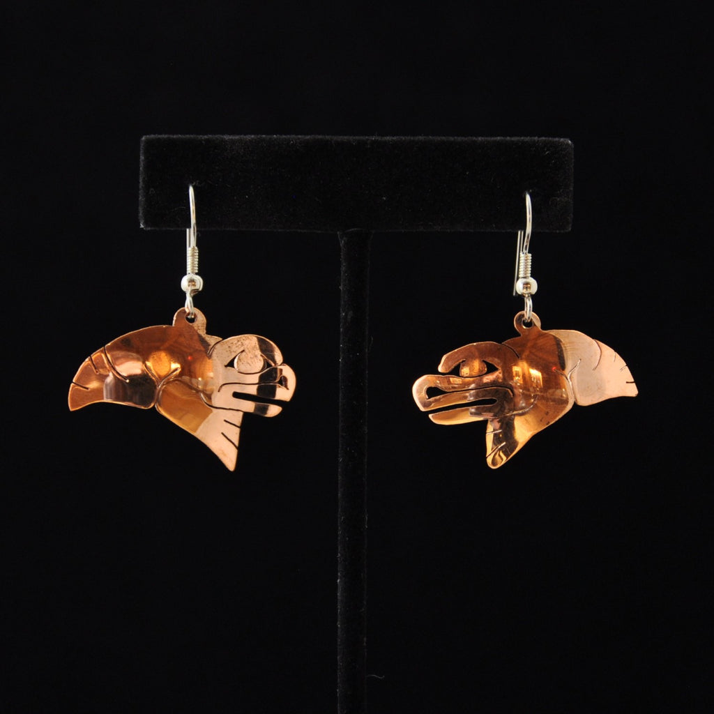 Copper Frog Earrings by Leo Marks
