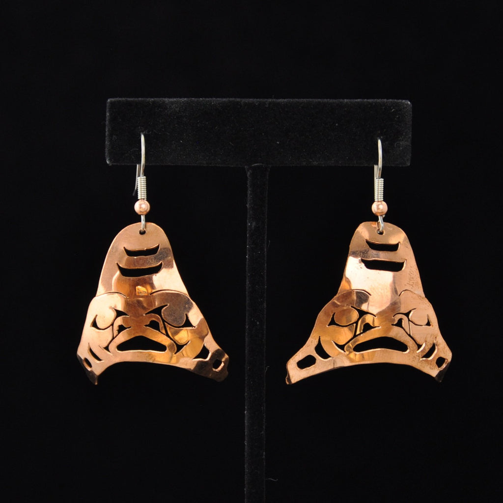 Copper Shark Earrings by Leo Marks