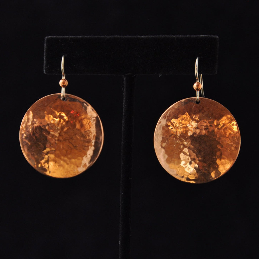 Earrings - Copper Discs LG - Naakée Designs