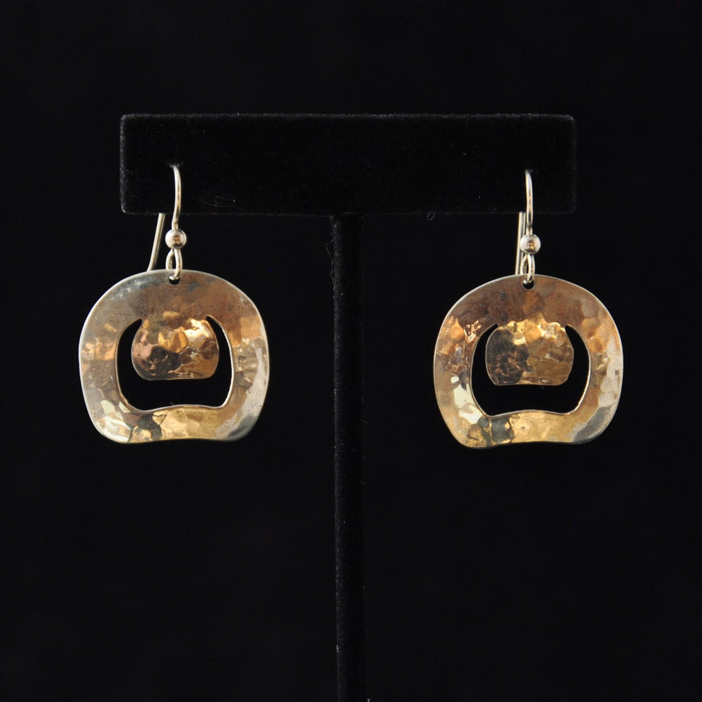 Silver Round Eyes Earrings - Naakée Designs