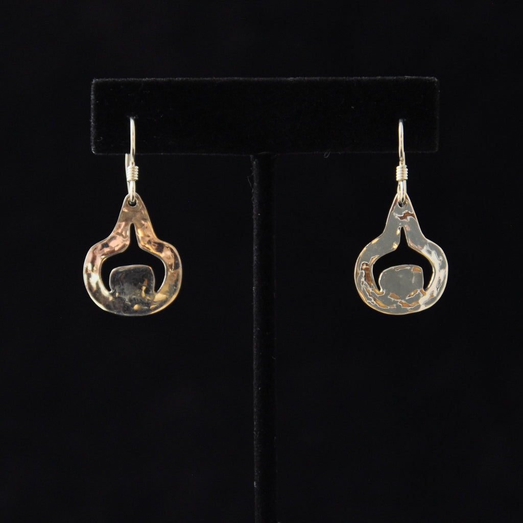 Silver Rain Drop Earrings - Naakée Designs
