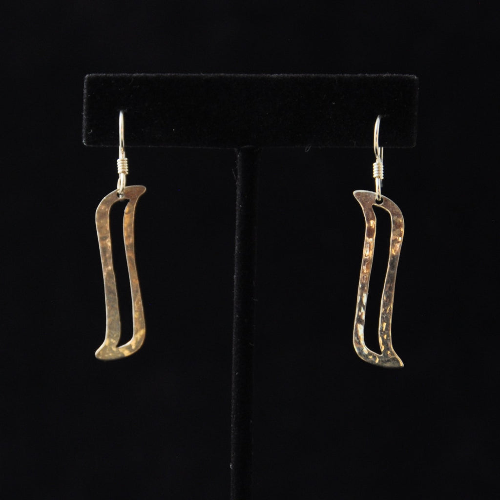 Silver Rib Earrings - Naakée Designs