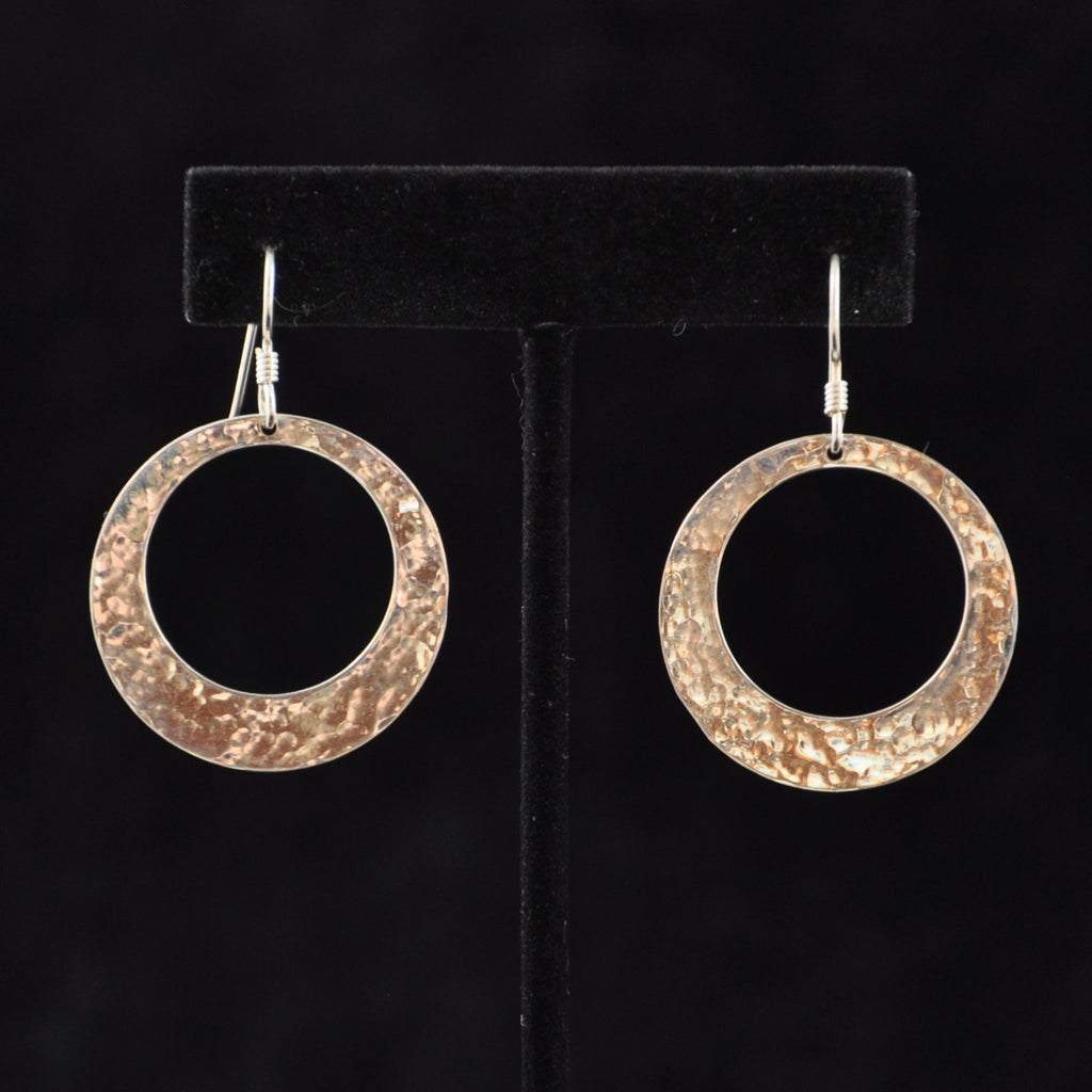 Silver Flat Ring Earrings