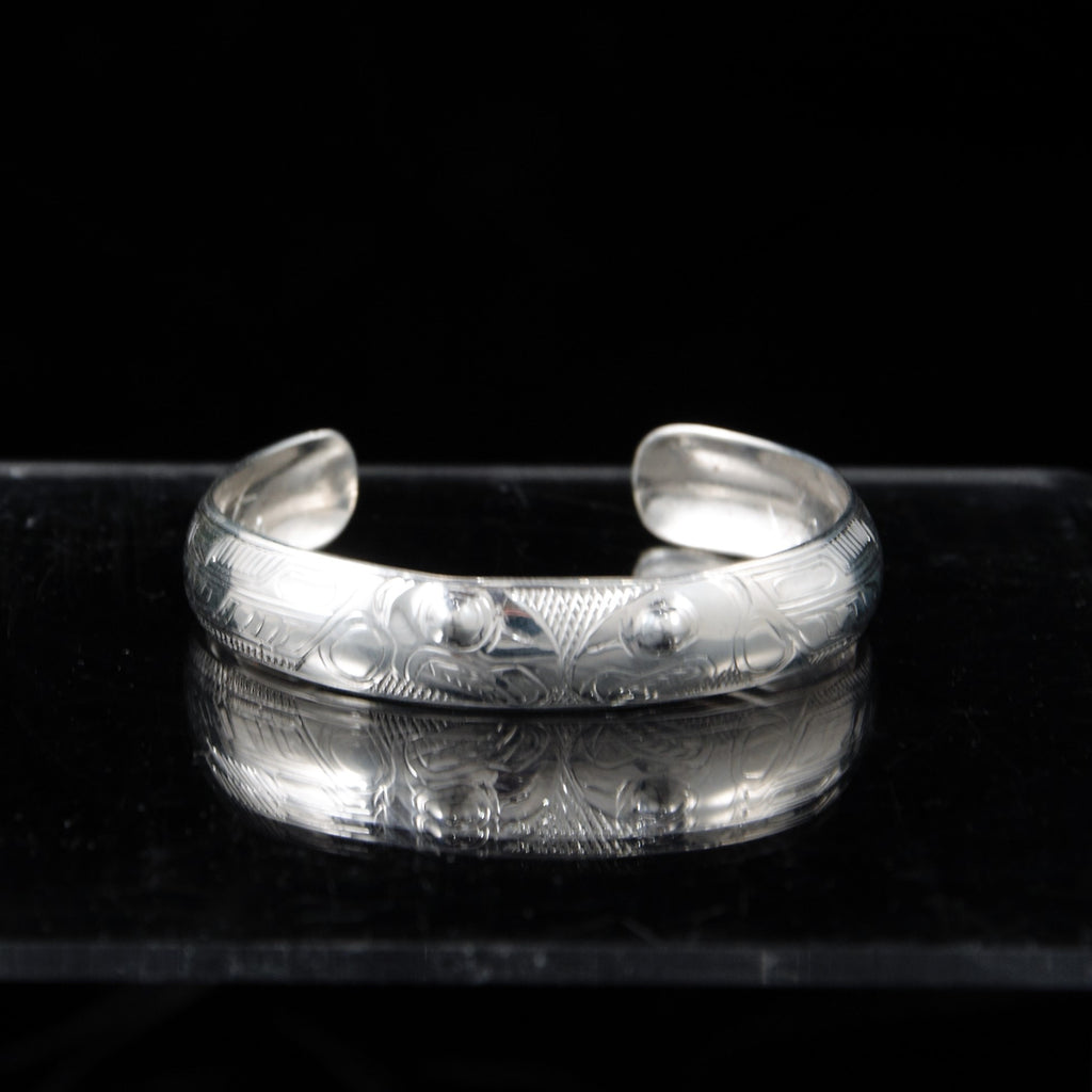 Bracelet - Silver Salmon by Levi Chilton - 1/2""