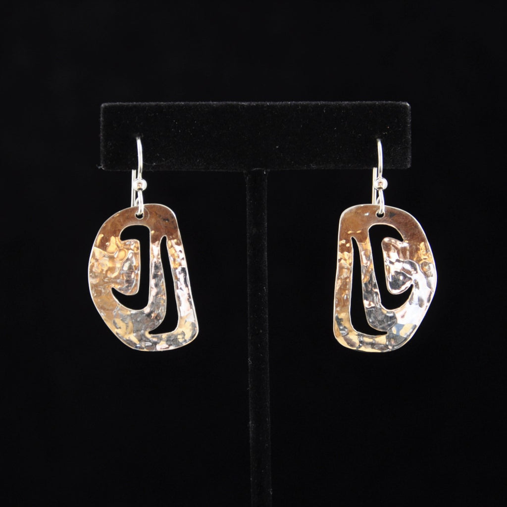 Silver Salmon Head Earrings - Naakée Designs