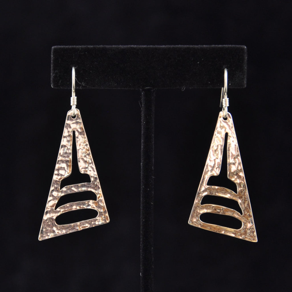 Silver Shark Fin Earrings - Naakée Designs