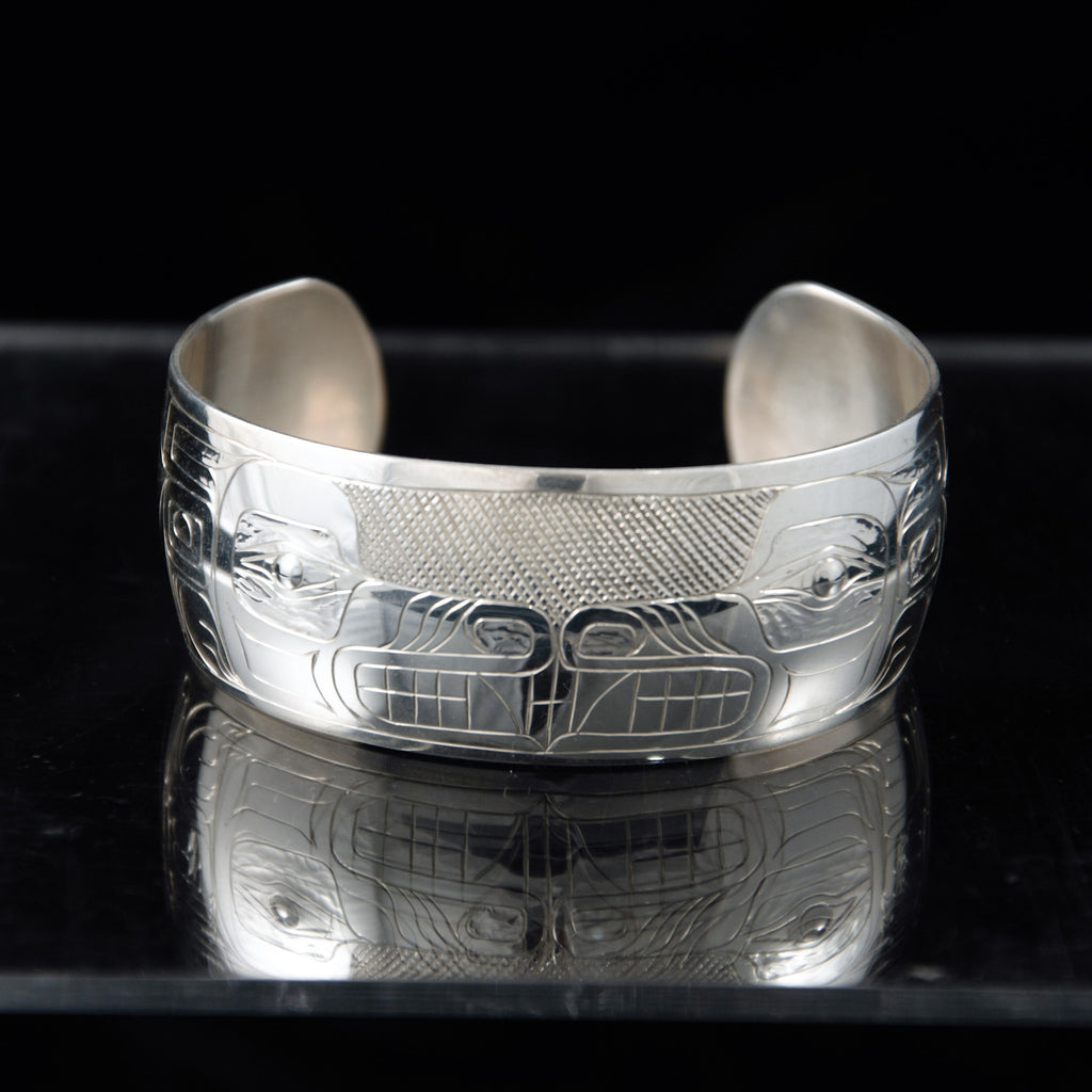 Bracelet - Silver Wolf by Brian Chilton - 1""