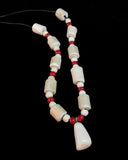 Necklace- D. Pungowiyi, Devil's Club Beads & Walrus Tooth Pendant, Various Colors