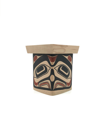 Bentwood Box- D.A. Boxley: Cedar, Painted, Various Designs, 4""