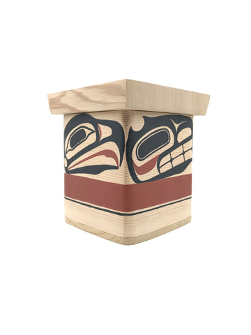 Bentwood Box- D.A. Boxley:  Cedar, Painted, Various Designs, 5""