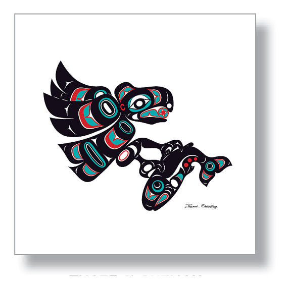 """Eagle & Salmon"" Art Print by Israel Shotridge"