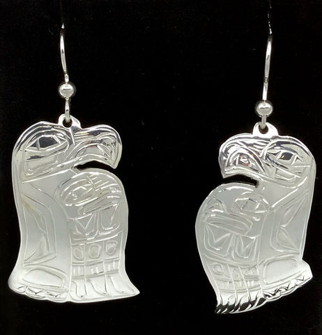 Earrings- G. Chilton: Silver, Live Edge Various Animals