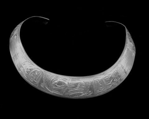 Neck Ring- G. Chilton, Silver, Eagle