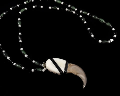 Necklace- K. Kiyutelluk, Bear Claw, Ivory, Baleen, & Jade,