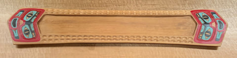 Tray- H. Sheakley Jr: Cedar, Stylized Face, 39.5""
