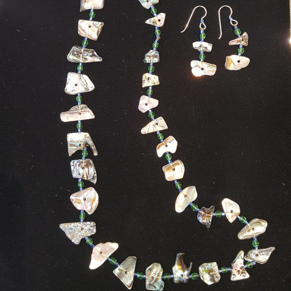 Abalone Earring & Necklace Set By Sea Around Us