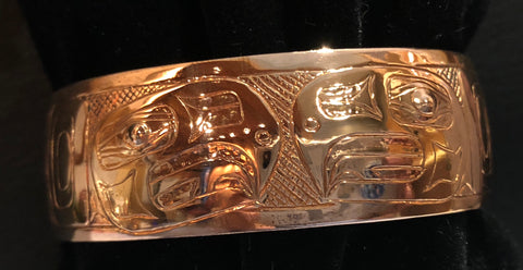 Bracelet- B. Chilton: Copper, Split Eagle, 3/4""