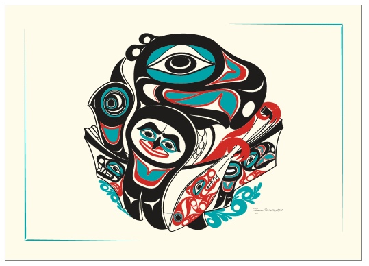 """Going to the Potlatch"" Art Card by Israel Shotridge"