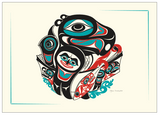 Art Print- Shotridge, Going to the Potlatch, Card & Matted