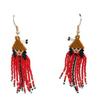 Earrings- J. Dangeli: Dancing Women, Beaded