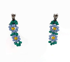 Earrings- J. Dangeli: Double Forget-Me-Not, Beaded, Posts