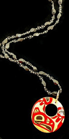 Pendant- J. Dangeli: Formline, Necklace w/Beads, Various Design