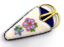 Scissor Set- J. Dangeli: Felt w Beading, Varied Designs